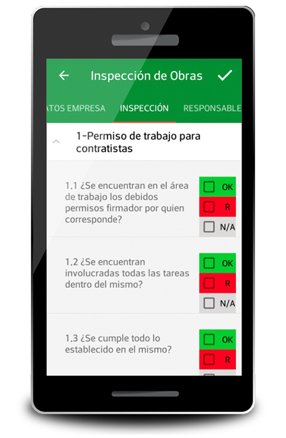 Safety Control by Safetynova - Pantalla de Inspecciones